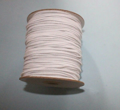 "Stringing elastic restringing 6-9"" Doll white cording 2 1/2 yards 2mm cord"
