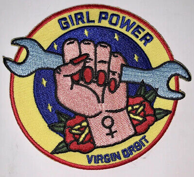 """VIRGIN GALACTIC - ORBIT ONE - GIRL POWER WOMAN BUILT SPACE3.5"""" COLLECTIBLE PATCH"""