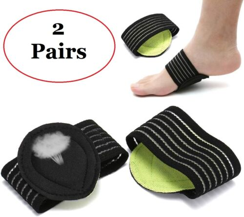 2 Pairs Plantar Fasciitis Therapy Wrap brace Arch Support for Heel Foot Pain Clothing & Shoe Care