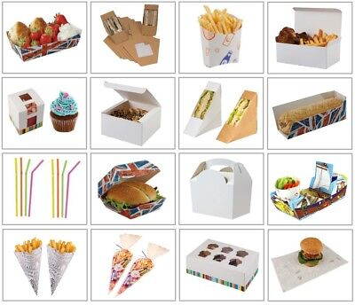 Wholesale Catering Supplies - Bulk Buy Food Boxes Trays Cones Straws