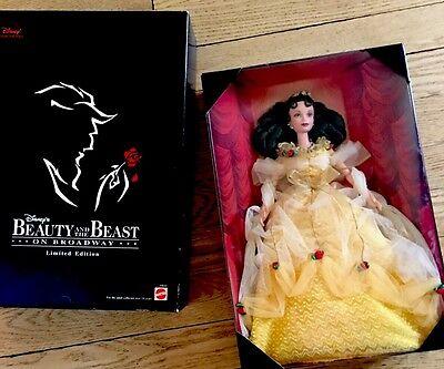 BEAUTY and the BEAST on Broadway Barbie Mattel Disney YELLOW DRESS BELLE