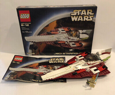 Lego Star Wars Jedi Starfighter 7143 100% complete with Minifig, Manual, And Box