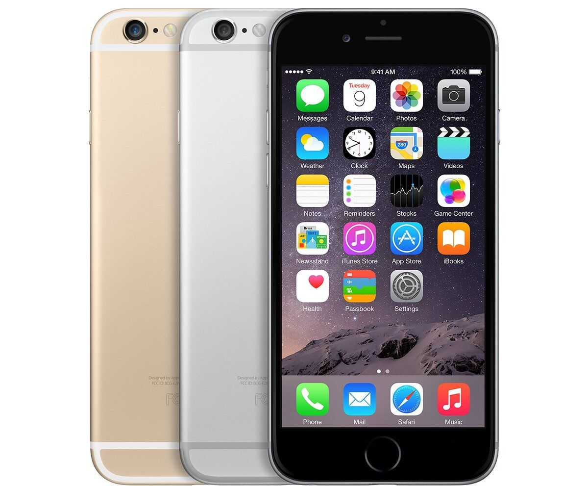 Apple iPhone 6-16GB 64GB 128GB *(AT&T)* Smartphone Gold Gray Silver Cell Phone