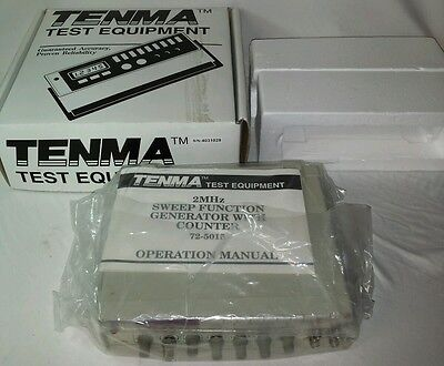Tenma 72-5015 120 Vac 50-60 Hz 20w 2 Mhz Sweepfunction Generator Counter