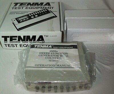 Tenma 72-5015 120 Vac 50-60 Hz 20w 2 Mhz Sweepfunction Generator Counter