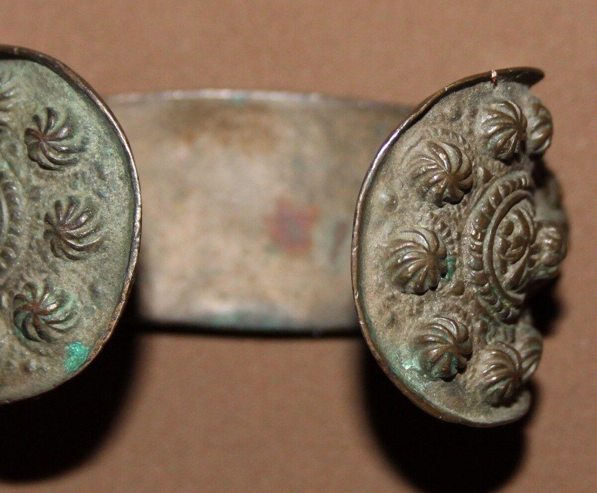 Antique Greek bronze fertility bangle bracelet