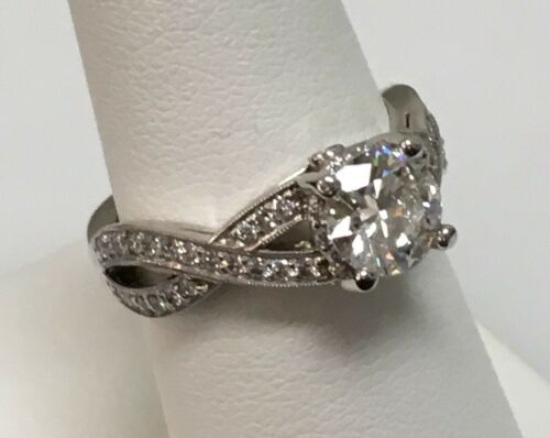 Platinum Engagement Ring Diamond 1.01ct H/SI1 GIA Certificate Size 5.75 2