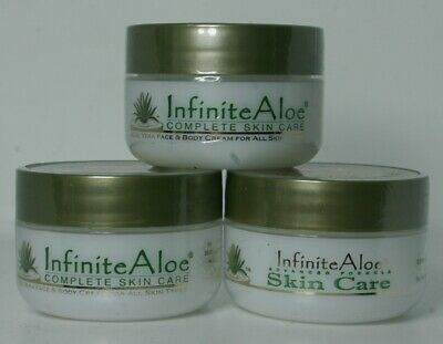 3 of 0.5 oz travel size Infinite Aloe, 100 % organic aloe vera cream,made in USA 100% Organic Aloe
