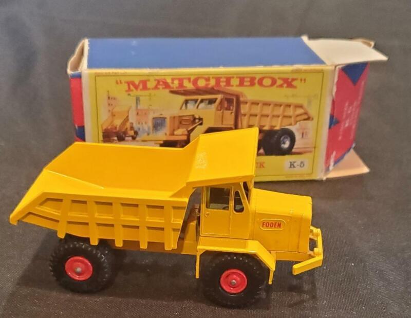1960s Matchbox Lesney K-5 Foden Dumper Truck Dump King Size high grade w/ box
