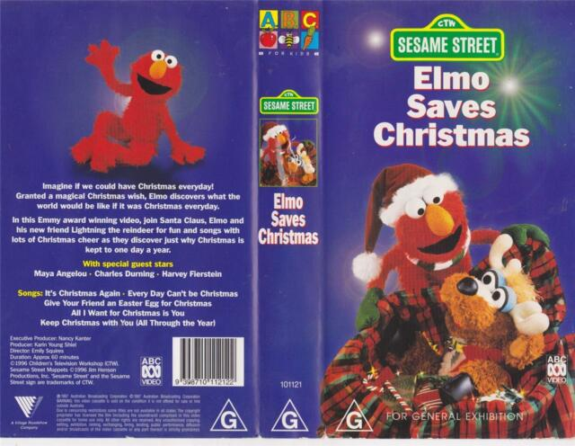 Sesame Street Elmo Saves Christmas ABC Video PAL VHS | eBay