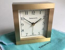 Classic Tiffany Solid Brass Shelf/Mantle/Desk Clock