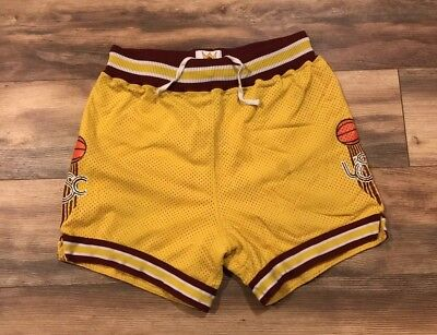 USC Trojans Sand Knit Vintage 80s 90s Team Issue Basketball Shorts Mens 36 Large Trojans Mens Basketball