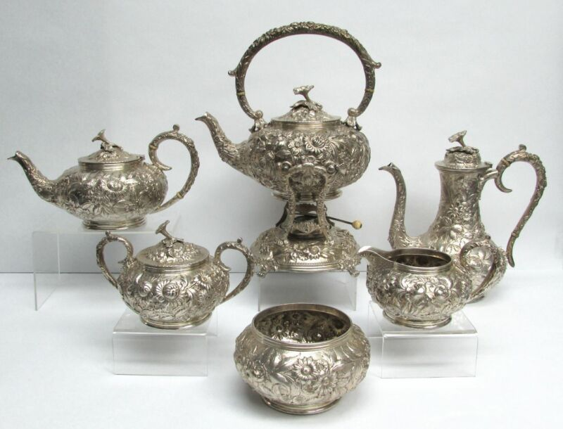 KIRK & SONS STERLING SILVER REPOUSSE