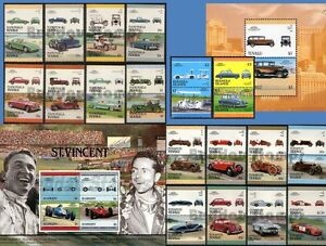 Car-Stamp-Sets-Mint-Leaders-of-the-World-Auto-100-Stamps-Great-Automobiles