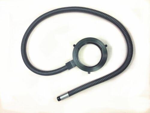 "Microscope Fiber Optic Ring Illuminator,  48"", 5/8"" Fiber, 9mm ID Free Shipment"