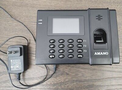 Amano Fpt-80 Time Clock Biometric Time Management Tracking System Fingerprint
