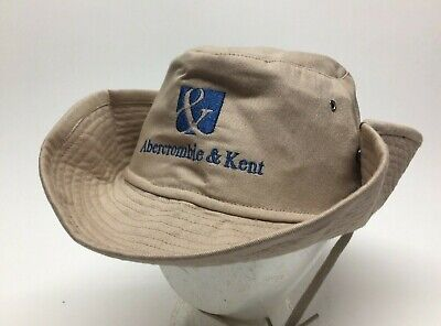 Colpro Abercrombie & Kent Tan Bush Safari Bucket Hat Size 7 1/2 EUC