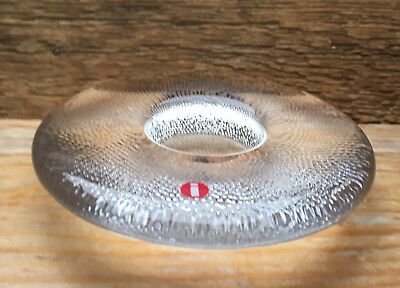 Iittala Clear Glass Candle Holder/Air Bubble Design/Contemporary/Retro 60's Look