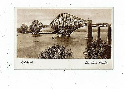 POST CARD THE FORTH BRIDGE