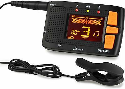 Donner 3-In-1 Digital Tuner Tone Metronome Generator Device For Guitar Bass US