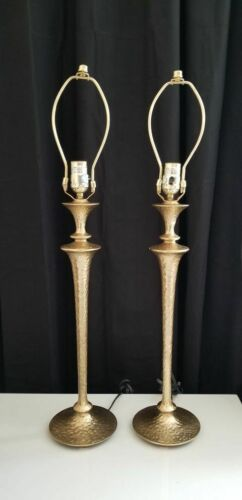 Vintage Cast Iron Hammered Lamps