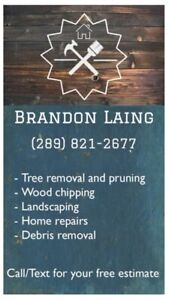Tree removal and general landscaping services for hire