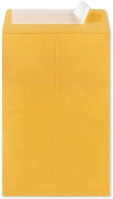 100-9x12 Kraft Brown Self Seal Catalog Envelopes With Peel Mailing Inner Size