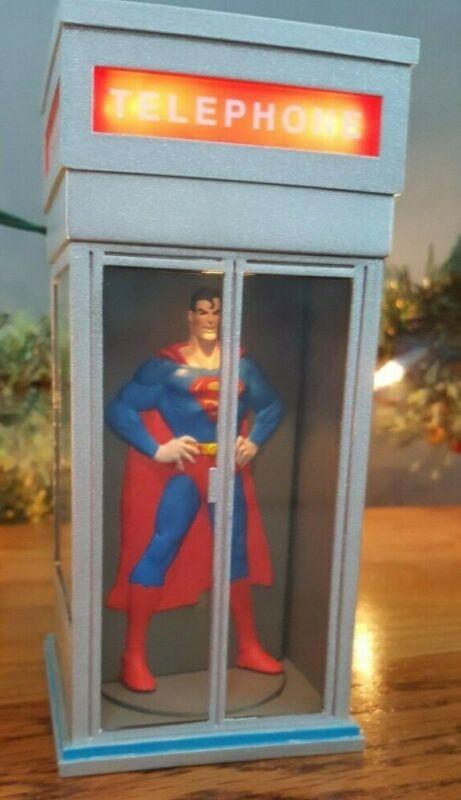 Vintage Hallmark Superman Light & Motion Magic Keepsake Ornament & Box 1995