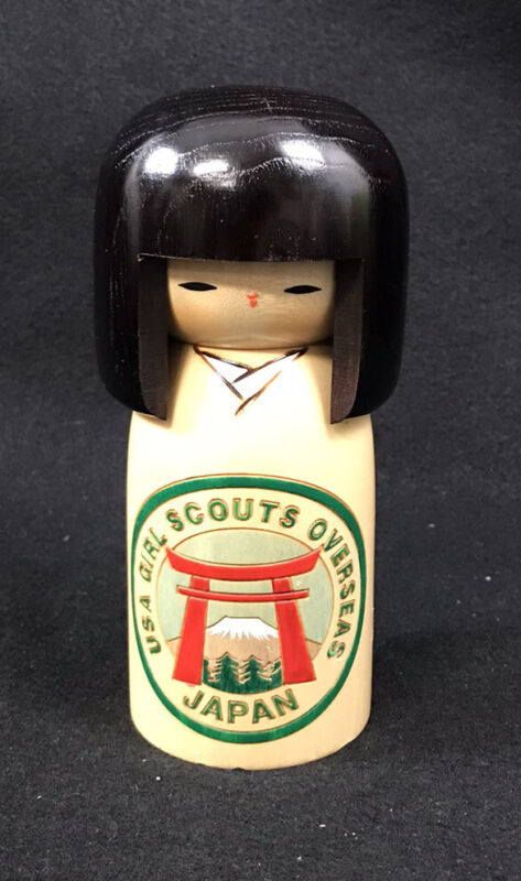 Girl Scouts Overseas Collectible Kokeshi Doll  Japan Limited Edition GSA