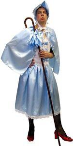 UOMO-Blu-BO-PEEP-Sorella-Brutta-Panto-Dame-addio-al-celibato-in-maschera-Outfit