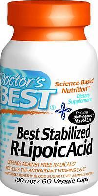Best Stabilized R-Lipoic Acid BioEnhanced Na-RALA, 60 veggie caps, Doctor's