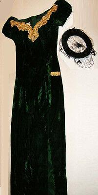 Vampire Halloween Costume_Dress_Hat Netting  & Braslet_Size Med