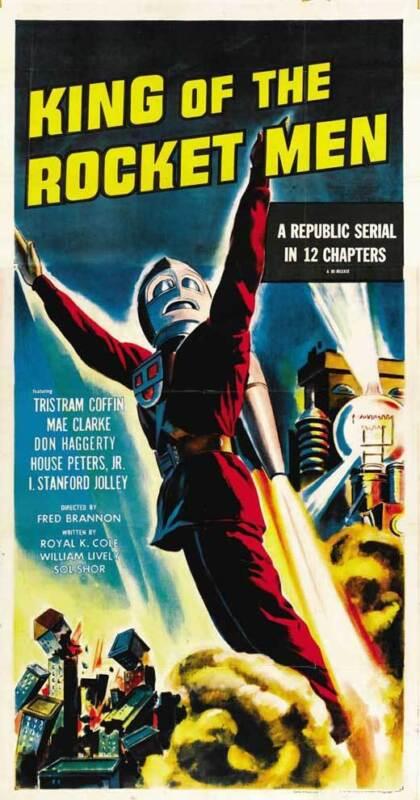 KING OF THE ROCKET MEN Movie POSTER 27x40 D Tristram Coffin Mae Clarke I.