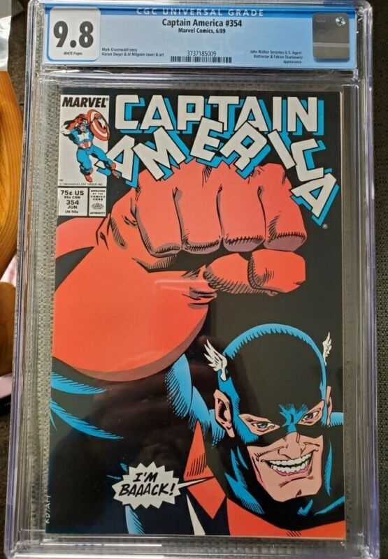 Captain America #354CGC 9.8 1989 Marvel Comic 1st First appearance U.S.Agent NM