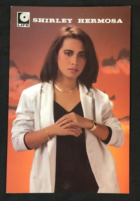 1990 SHIRLEY HERMOSA Malay Singer Life Records official postcard Malaysia