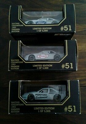 NASCAR LIMITED EDITION  FORD, PONTIAC, CHEVY 1:43 SCALE DIE CAST CAR LOT OF (3)