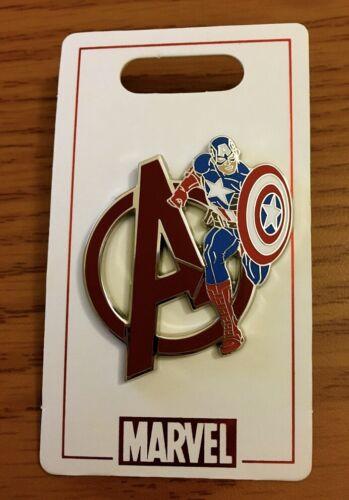Disney MARVEL Captain America AVENGERS Pin New on Card