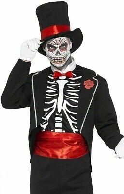 Sugar Skull Costume For Men (Smiffys Mens Day of the Dead Sugar Skull Costume uk)