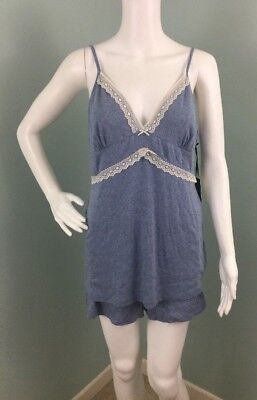 Modal Lace Trim Cami (NWT Womens Max Studio Lace Trim Cami Shirt & Shorts Pajama Set Sz L Large)