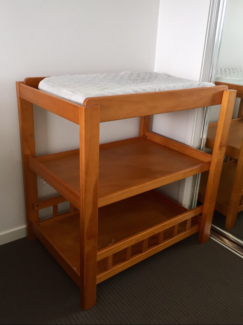 Timber baby change table