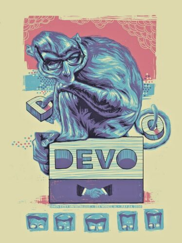 🔥 RARE DEVO DES MOINES IA July 24 2010 Poster SCREEN PRINT SIGNED S/N #/155