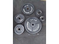 125kg Olympic cast iron weights plates