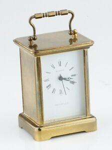 Tiffany Amp Co Brass Carriage Clock Quartz Authentic Mantel