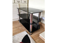TV Stand - Black glass up to 40 inch