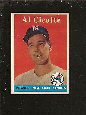 1958  Topps # 382 Al Cicotte Ex-Mt