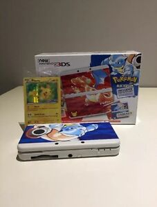 New Nintendo 3DS Pokemon 20th Anniversary With Pikachu Card