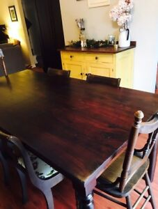 Beautiful and Sturdy Table and Antique Chairs