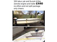 10ft Boat, Trailer and Engine
