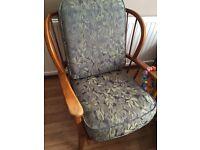 Ercol & G Plan era arm chair. Vintage, kitsch, shabby chic.