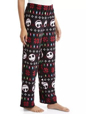 Christmas Pajama Pants - NIGHTMARE BEFORE CHRISTMAS 18 Fleece Lounge Pants Womens Pajama Jack Skellington